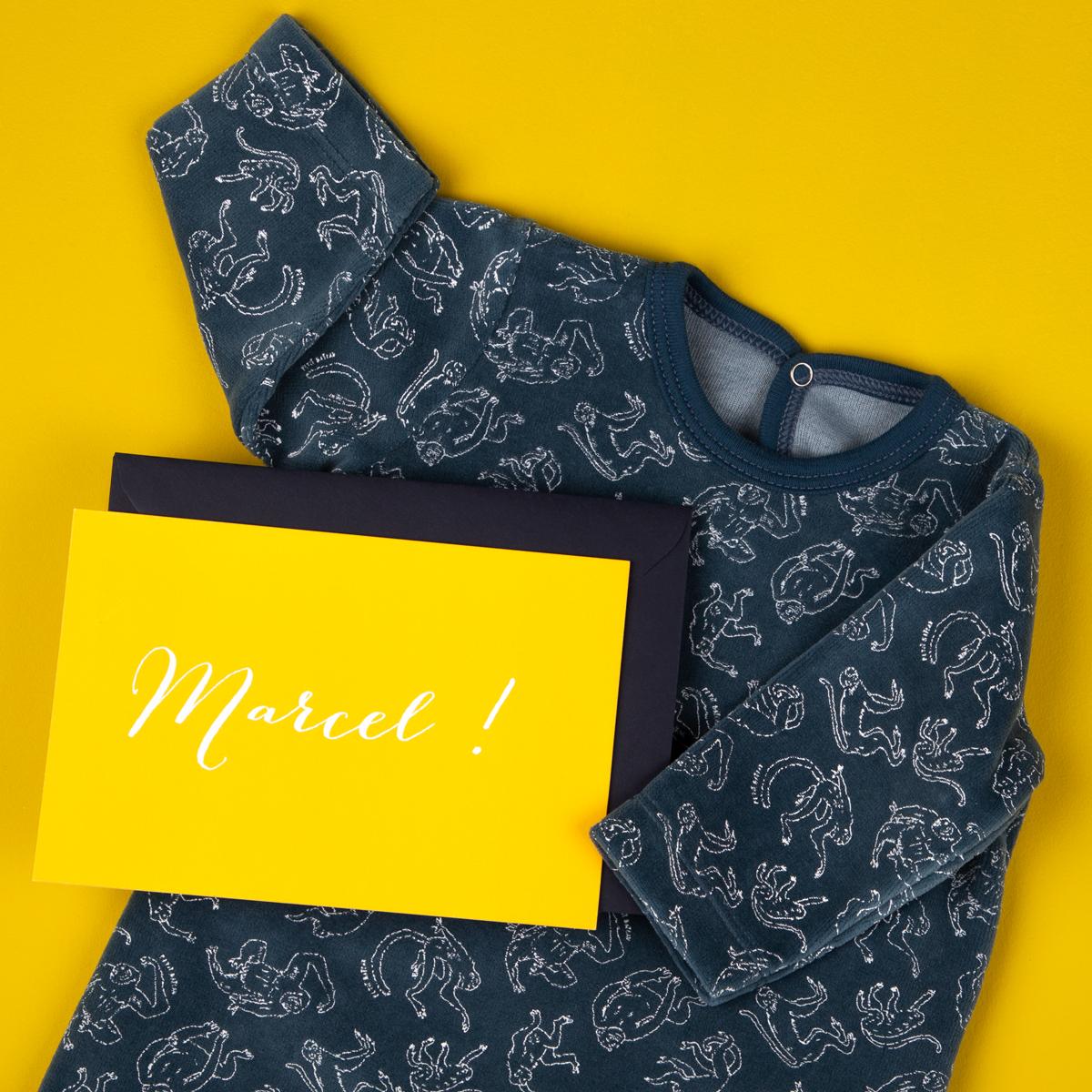 Faire-part Naissance Rosemood et Pyjama bleu Petit Bateau