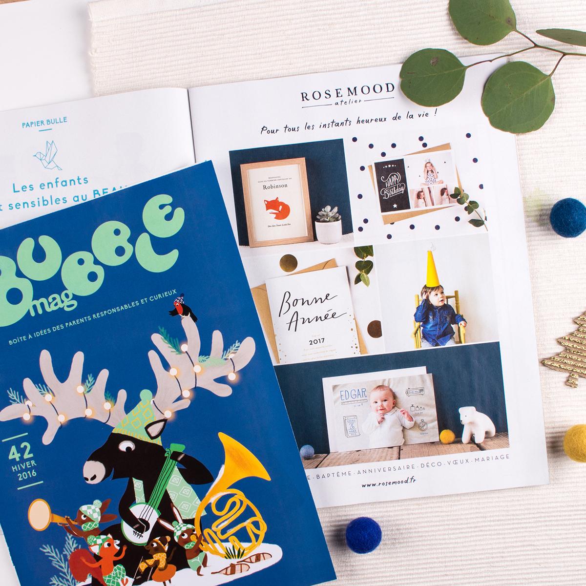 Encart publicité dans le magazine Bubble Mag avec couv