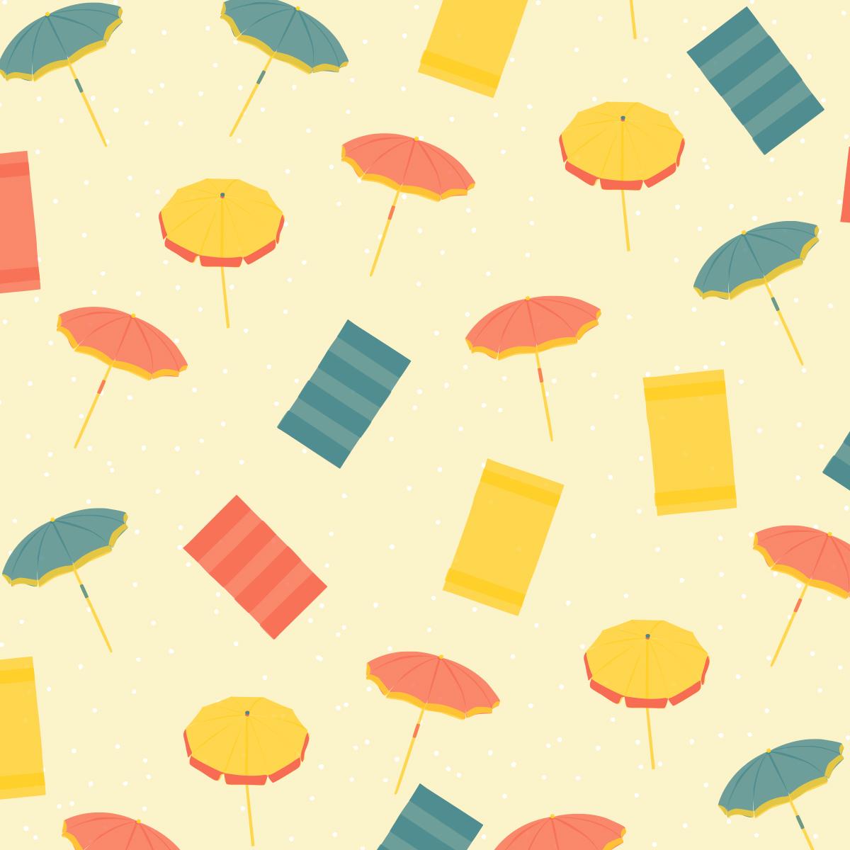 Zoom sur le Motif Parasols et serviettes