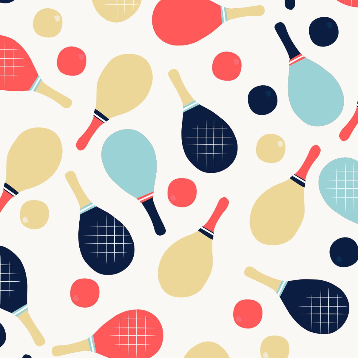 Zoom sur motif Jeux de raquettes