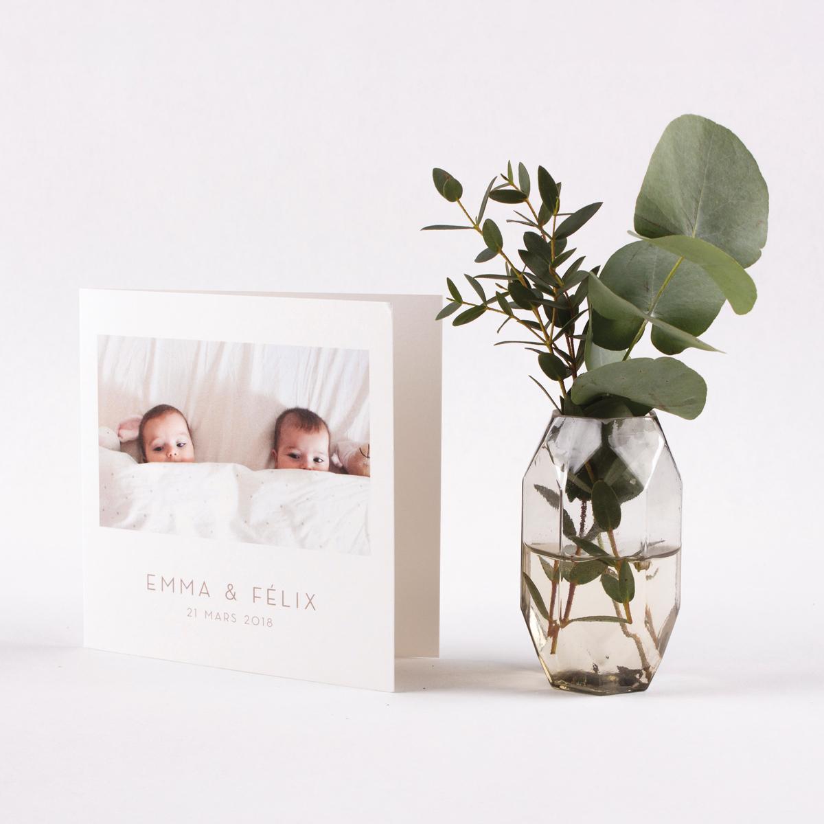 Faire-part de naissance jumeaux